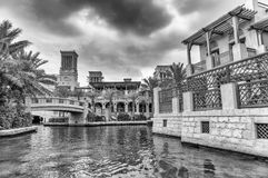 Classic Dubai buildings in Madinat Jumeirah, UAE Royalty Free Stock Image