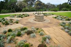 Classic dug water well at garden in Perth, Australia. Classic dug water well at garden outdoor in Kings Park and Botanic Gardens in Perth, Australia stock image