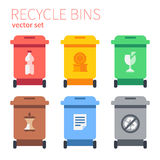 Classic dustbins for separate collection Royalty Free Stock Photo