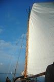 Classic Dutch sailing ship. Main sail of a classic Dutch sailing ship Stock Photo