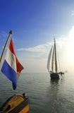 Classic Dutch sailing ships Royalty Free Stock Images