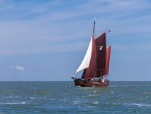 Classic Dutch yacht Royalty Free Stock Images