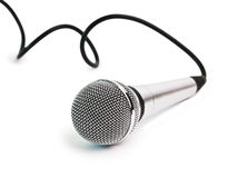 Classic dynamic microphone Stock Images