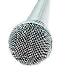 Classic dynamic microphone. Isolated on white background Royalty Free Stock Image