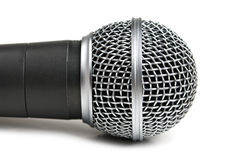 Classic dynamic microphone. Isolated on white background Royalty Free Stock Photo