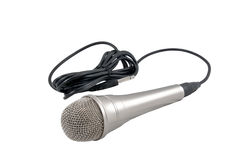 Classic dynamic microphone. Isolated on white background Royalty Free Stock Photography