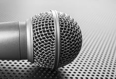 Classic dynamic microphone Stock Photography