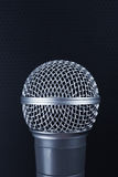 Classic dynamic microphone. On black background. Toned Stock Photos