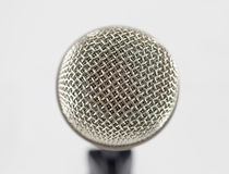 Classic dynamic microphone. Isolated on white background Royalty Free Stock Images