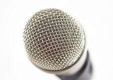 Classic dynamic microphone. Isolated on white background Stock Photo