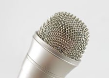 Classic dynamic microphone. Isolated on white background Royalty Free Stock Photos