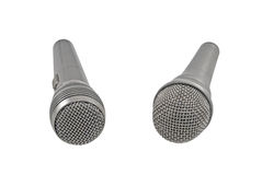 Classic dynamic microphones Royalty Free Stock Images