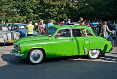 Classic East German car Wartburg 311 on a street parade Royalty Free Stock Images