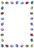 Classic Easter Egg Border Royalty Free Stock Photo