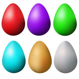 Classic easter eggs set. Isolated colorful easter eggs design elements. Vector illustration Stock Photo