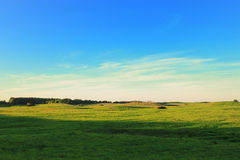 Classic eastern europe field landscape Royalty Free Stock Photos