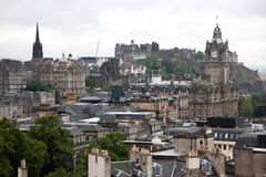 Classic Edinburgh from Calton Hill Royalty Free Stock Photo