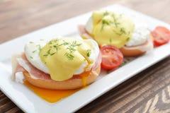 Classic Egg Benedict Stock Image