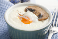 Egg en Cocotte with Mushroom Royalty Free Stock Image
