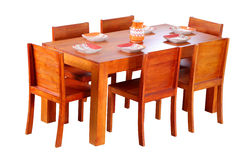 Classic elegant dining table set Royalty Free Stock Photography
