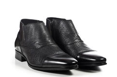 Classic elegant pair of male shoes Royalty Free Stock Photo
