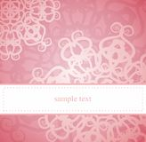 Classic elegant vector card or invitation. Classic elegant card or invitation for party, birthday or wedding with pink floral abstract ornament. White space to Royalty Free Stock Images