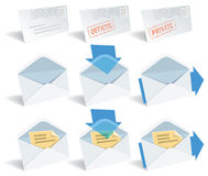 Classic email icons Royalty Free Stock Photo