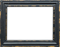 Classic empty picture frame isolated on white background Stock Photos