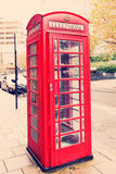 Classic English red telephone box - symbol of London Royalty Free Stock Photography