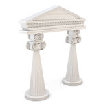 Classic entrance with columns. 3d. Stock Images