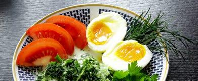 Classic ethnic vegetarian breakfast Royalty Free Stock Photo