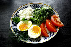 Classic ethnic vegetarian breakfast Stock Photos