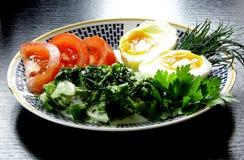 Classic ethnic vegetarian breakfast Royalty Free Stock Photography