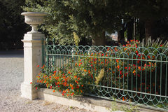A classic European garden stock photography