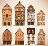 Classic European houses. Vector illustration of classic european historical houses Stock Images