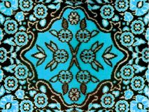Classic fabric rug floral. Image of classic fabric rug floral motif Stock Photos