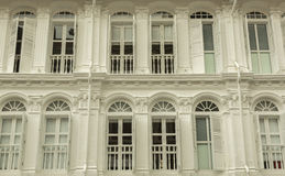 Classic facade on colonial buildings Royalty Free Stock Photography