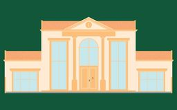 Classic facade house colored. royalty free illustration