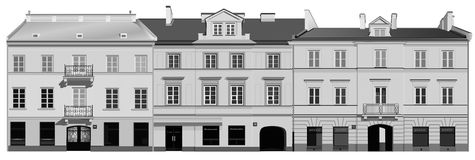 Classic facades Royalty Free Stock Photography