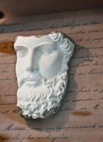 Classic face sculpture Stock Photography