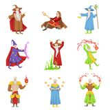 Classic Fantasy Magicians Set Of Characters Royalty Free Stock Photo