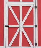Red Barn Hinged Door royalty free stock photos