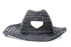 Classic fedora style hat isolated on white Royalty Free Stock Images