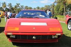 Classic Ferrari 512 bbi sports car frontal view Royalty Free Stock Image
