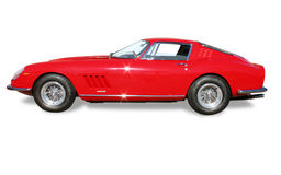 Classic Ferrari Coupe isolated Royalty Free Stock Image
