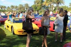 Classic Ferrari F355 sports cars at event Stock Photo