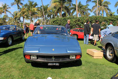 Classic ferrari front with concealed headlamps Stock Images