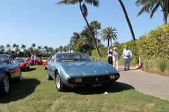 Classic ferrari front with concealed headlamps Royalty Free Stock Photo