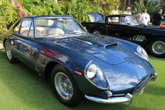 Classic Ferrari front quarter view close up Stock Photos