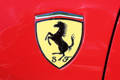 Classic Ferrari logo Royalty Free Stock Photo
